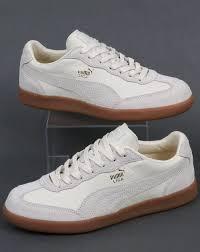 puma puma liga leather trainers whisper white