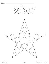 printable star free star do a dot printable star coloring page