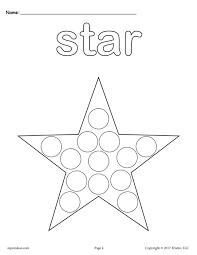 printable star free star do a dot printable star coloring page