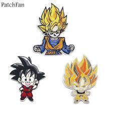 A0563 <b>Patchfan Dragon ball</b> Son Goku Classic Cartoon Iron on ...