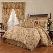 ... Imperial Dress Antique Four Piece Queen Comforter Set Waverly Image  With Marvelous Blue Brown Quilt Bedding ...