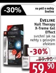 Lak Na Nehty X Treme Gel Effect Nail Therapy Eveline V Akci Rossmann