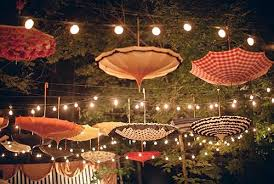 outdoor wedding lighting decoration ideas. Umbrellas And Parasols Are Practical Solutions To Keep Drizzle Or Sunshine  From Getting In Way To. What Better Decoration Idea Outdoor Wedding Lighting Ideas