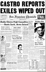 pdx retro blog archive it was years ago on this date in  newspaper on the bay of pigs