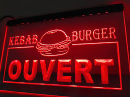 Neon Signs For Home Decor LB100 Ouvert Kebab Burger Enseigne Lumineuse Neon Sign Home Decor 67