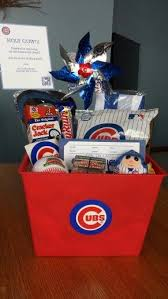 cubs themed gift basket