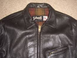 schott 681 black leather jacket mens us uk 48 highwayman
