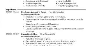 Auto Body Technician Resume Sample Auto Mechanic Resume Templates