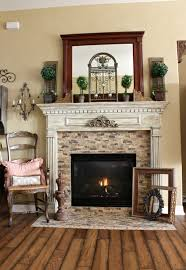 french country fireplace traditional living room