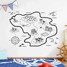 map wall decal bedroom decals