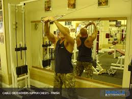 Cable Crossovers Upper Chest Video Exercise Guide Tips