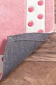 pink area rug for nursery elegant nuloom contemporary nursery solid polka dot border kids