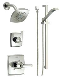 delta shower rod delta shower curtain rod top faucet in brilliance delta about delta shower rod