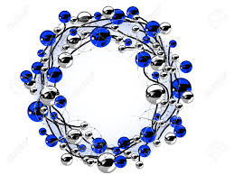Christmas wreath with blue and silver balls Stock Vector - 16584595