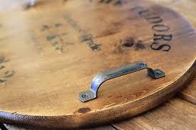 make a wine barrel inspired tray wine