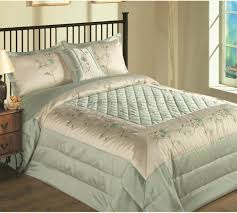 bedspreads king size green cream luxury cheerful