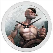 Часы круглые из пластика Popeye The <b>Sailor</b> Man #2028268 от ...