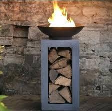 outdoor fire column new garden pit log burner heaters gas target cover range bay outdoor gas fire column