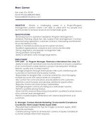 junior project manager resume objective objectives for management positions  statement sample man
