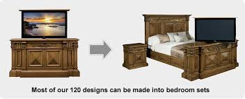 tv lift bedroom sets from almost any of our cabinet designs