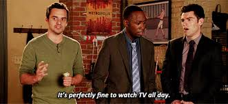 family watching tv gif. you can spend the entire day watching netflix in their living room without feeling bored. family tv gif