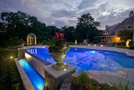 swimming pool lighting ideas. custom zero edge glass tile swimming pool with fiber optic lighting design ideas t