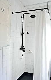 square shower curtain rod ceiling mounted track shower curtain rods images the most square mount rod