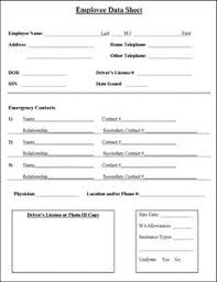 employment information sheet employment termination form employee forms pinterest business