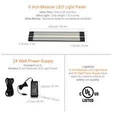 6 inch warm white modular led under cabinet lighting pro kit 12 panels cabinet lighting 6