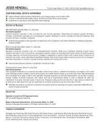 Appraiser Resume Example Real Estate Appraiser Resume Free Appraiser ...