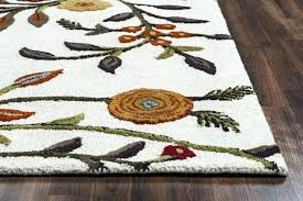 2 ft x 10 rug runner botanical hand tufted in ivory corner low res