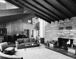 Living Room Shows Simple The Buchbinder Residence Photograph Wisconsin Historical Society