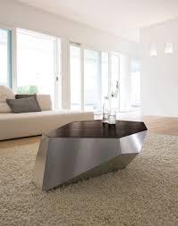 contemporary coffee table wooden hexagonal diamante