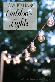 Outdoor strand lighting Sparkle How To Hang Outdoor Lights Without Walls What An Easy And Inexpensive Way To Add Making Lemonade How To Hang Outdoor String Lights the Deck Diaries Part 3