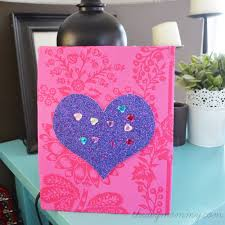 easy diy glitter wall art for kids using sbook paper and