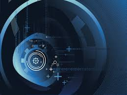 Technology Powerpoint Blue Slide Powerpoint Templates Black Blue Technologies Free