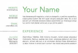 Create A Simple Resumes How To Create A Simple Resume Using Indesign Annenberg