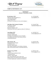 Reference Page Format Resume 17 With References Samples Template