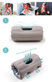 office nap pillow. Neck Pillow Outdoor Portable Folding Inflatable Travel Aircraft Office Nap Back Cushion Creative F
