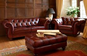 Living Room With Chesterfield Sofa Chesterfield Sofa Leather 2 Seater Brown Heathcote