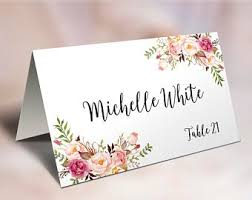 wedding table cards template wedding place cards etsy nz