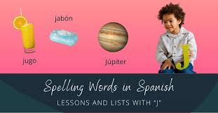 spelling words in spanish lessons and