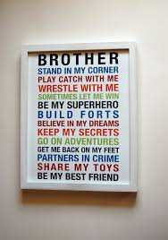 on brothers wall art quotes with brothers wall art printable boys room decor print big brother