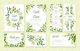 Save The Date Cards Templates Eucalyptus Design Wedding Invitation Menu Rsvp Thank You