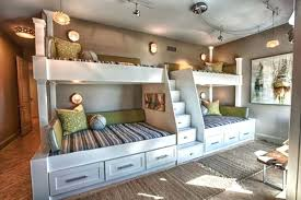 cool bunk beds built into wall. Delighful Cool Custom Built In Bunk Beds We Utilized The Length And Unique Shape Of Room  By Building A Double Twin Over Full Wall Queen Bed Plans Free Throughout Cool Into N