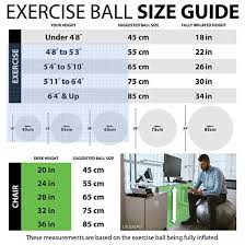 Exercise Ball Size Chart 3 Powerful Back Pain Relief Stretches To Improve Posture