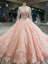 New Ball Gown Design Luxury Pink New Designer Ball Gown Prom Dresses Long Sleeves Lace Appliqued Beads Dress Evening Wear Plus Size Custom Made Formal Gowns Short