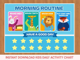 Kids Daily Planner Kids Routine Chart Kids Chore Chart Kids Morning Routine Kids Daily Schedule Chore Chart For Kids Kids Reward Chart