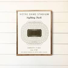 Notre Dame Football 2019 Seating Chart Notre Dame Notre Dame Stadium Seating Chart Fighting Irish Notre Dame Sign Groomsmen Gift College Football Office Basement Art Poster