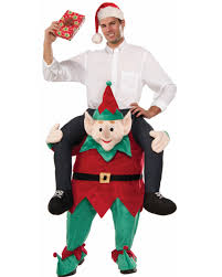 mens 34 myself on an elf riding elf plush mascot costume walmart
